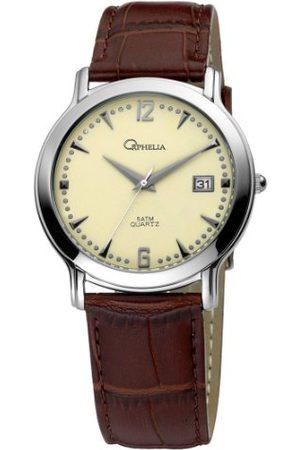 ORPHELIA Męski zegarek na rękę XL analogowy skóra 132-6614-23