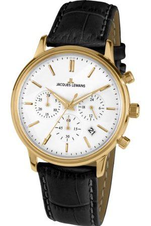 Jacques Lemans Unisex zegarek na rękę nostalgia chronograf kwarcowy skóra N-209B