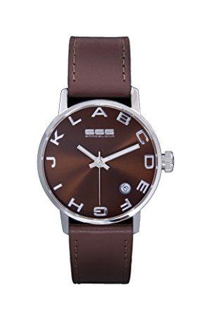 666Barcelona Uniseks dla dorosłych analogowy zegarek kwarcowy ze skórzanym paskiem 66-273
