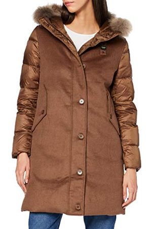 Blauer Damski płaszcz puchowy Impermeabile/Trench Lunghi Imbottito Piuma alternatywny płaszcz puchowy