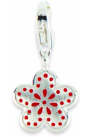 Alraune Unisex Charm Flower srebrny 103938