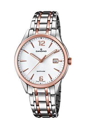 Candino Męski data klasyczny zegarek kwarcowy z bransoletką ze stali szlachetnej C4616/2