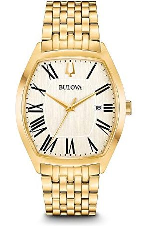 BULOVA Męski analogowy klasyczny zegarek kwarcowy z paskiem ze stali nierdzewnej 97B174