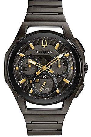 BULOVA Męski chronograf automatyczny zegarek z paskiem ze stali nierdzewnej 98A206
