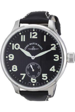 Zeno Męski zegarek na rękę XL Super Oversized analogowy nakręcany ręcznie skóra 9558SOS-6-pol-a1