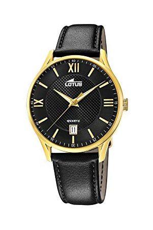 Lotus Męski analogowy zegarek kwarcowy ze skórzanym paskiem 18403/D