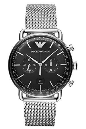 Emporio Armani Męski analogowy zegarek kwarcowy bransoletka Rozmiar uniwersalny Silver