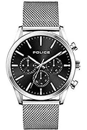 Police Policja męski analogowy zegarek kwarcowy z paskiem ze stali nierdzewnej 1
