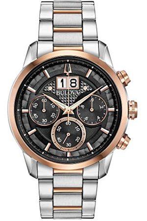 BULOVA Męski zegarek kwarcowy chronograf z paskiem ze stali nierdzewnej 98B335