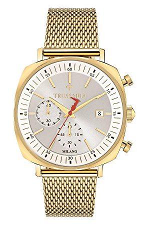 Trussardi Męski chronograf kwarcowy zegarek z bransoletką ze stali szlachetnej R2473621001