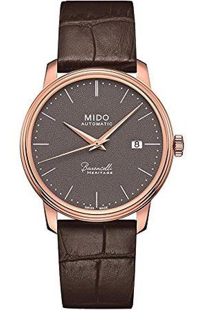MIDO Męski analogowy automatyczny zegarek ze skórzanym paskiem M0274073608000