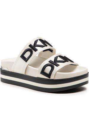 DKNY Klapki - Tee K1136610 Vanilla/Blk