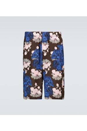 UNDERCOVER Szorty - Floral and skull printed shorts