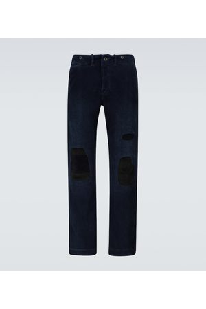 RRL Chinosy - Distressed corduroy pants