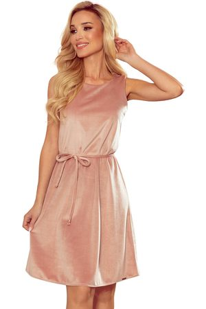 Numoco Kobieta Sukienki letnie - Trapezowa letnia sukienka - różowa