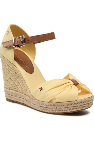 Tommy Hilfiger Kobieta Sandały - Espadryle - Basic Opened Toe High Wedge FW0FW04784 Delicate Yellow ZFF