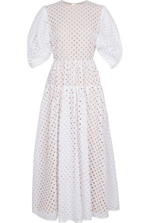 Oscar de la Renta Kobieta Sukienki maxi - Broderie anglaise cotton maxi dress