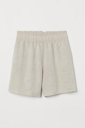 H&M Szorty bez zapięcia z lnem
