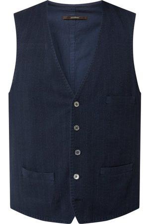 Windsor Mężczyzna Kamizelki - Kamizelka z mieszanki bawełny i lnu model 'Voglio'