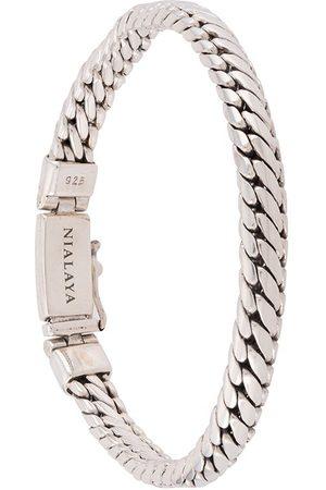 Nialaya Mężczyzna Bransoletki - Rope-chain sterling bracelet