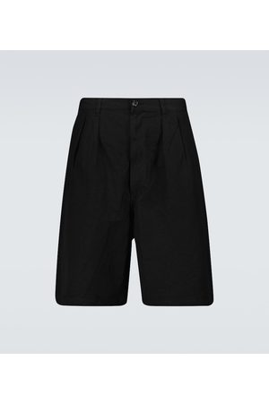 Comme des Garçons Wide-leg linen-blend shorts