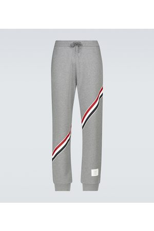 Thom Browne Sweatpants with diagonal stripe