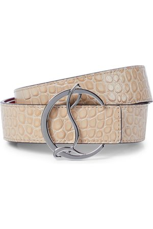 Christian Louboutin Kobieta Paski - CL Logo reversible leather belt