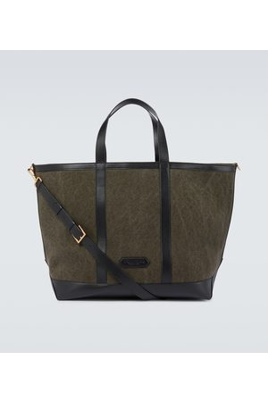 Tom Ford Kobieta Torebki - Canvas and leather tote bag