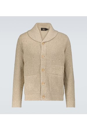 RRL Repaired shawl cardigan