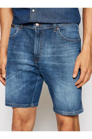 Wrangler Mężczyzna Szorty - Szorty jeansowe Texas W11CQ148R Slim Fit