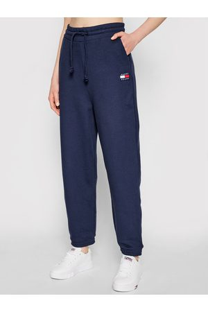 Tommy Hilfiger Kobieta Spodnie dresowe - Spodnie dresowe Tjw Hrs Badge DW0DW09740 Granatowy Relaxed Fit