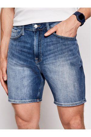 Guess Szorty jeansowe M1GD10 D4B71 Granatowy Regular Fit