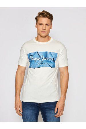 Pepe Jeans Mężczyzna Z krótkim rękawem - T-Shirt Raury PM506480 Slim Fit
