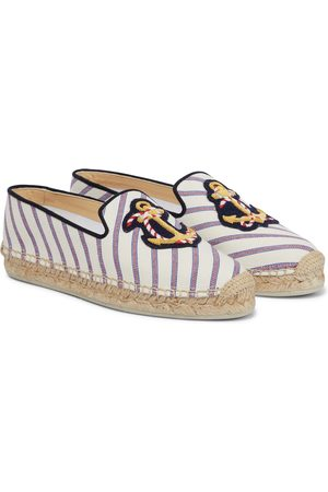 Christian Louboutin Loudmer Donna striped canvas espadrilles