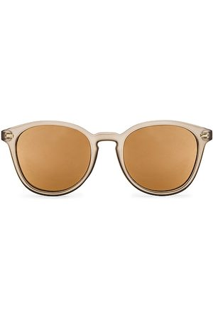Le Specs Bandwagon Sunglasses in - Light Grey,Taupe. Size all.