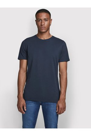 JACK & JONES T-Shirt Orrganic Basic 12156101 Granatowy Slim Fit