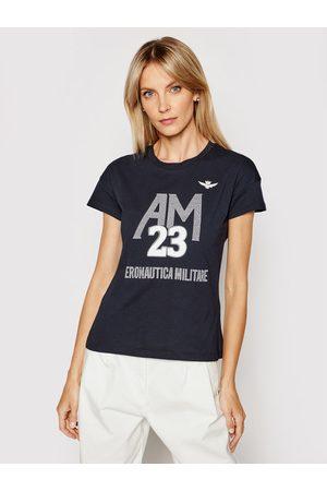 Aeronautica Militare T-Shirt 211TS1871DJ510 Granatowy Regular Fit