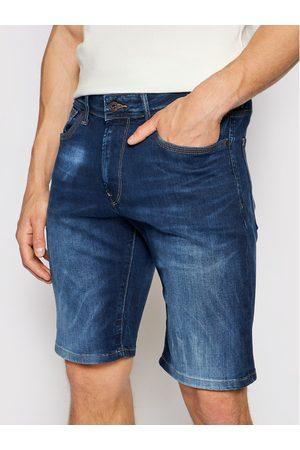 Pepe Jeans Szorty jeansowe Stanley PM800854 Granatowy Taper Fit