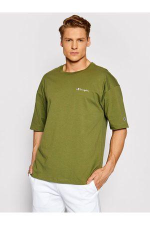 Champion T-Shirt Small Script Logo 214282 Custom Fit