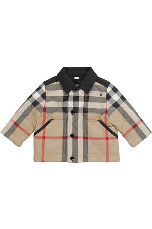 Burberry Kurtki - Baby Archive Check quilted jacket