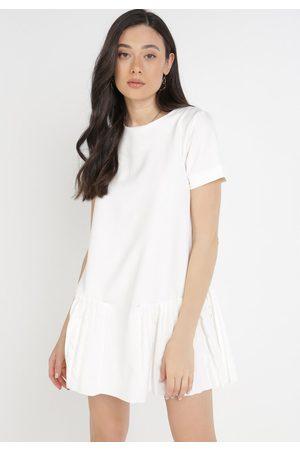 BORN2BE Kobieta Sukienki - Kremowa Sukienka Athizose