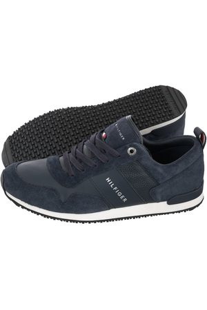 Tommy Hilfiger Mężczyzna Sneakersy - Sneakersy Iconic Leather Suede Mix Runner FM0FM00924-403 Midnight (TH245-a)