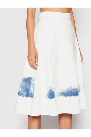 Trussardi Spódnica jeansowa Blitch Tye-Dye 56G00171 Regular Fit