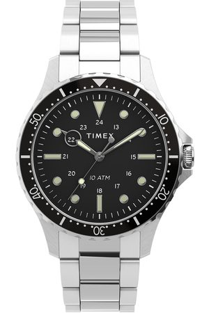 Timex Mężczyzna Zegarki - Zegarek - Navi TW2U10800 Silver/Black