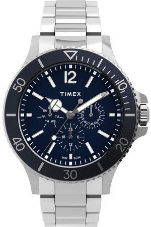 Timex Mężczyzna Zegarki - Zegarek - Harborside TW2U13200 Silver/Navy