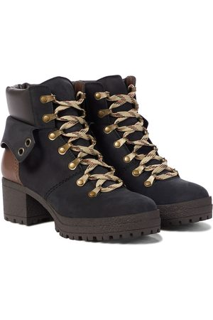 Chloé Eileen leather and suede hiking boots