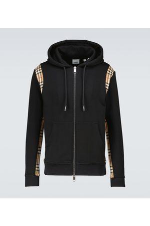 Burberry Checker zipped hooded sweatshirt