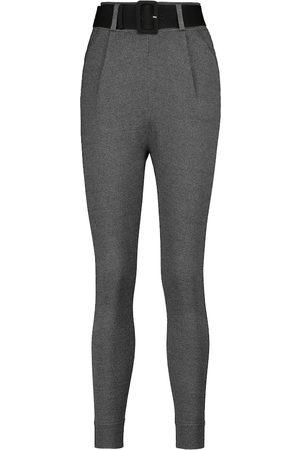 Self-Portrait Belted stirrup slim-fit pants