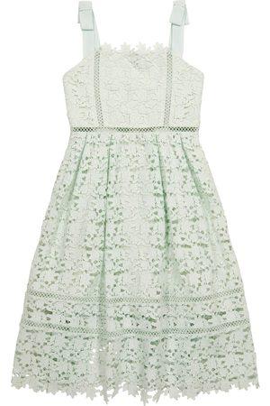 Self Portrait Kids Dziewczynka Sukienki koktajlowe i wieczorowe - Bow-trimmed lace dress