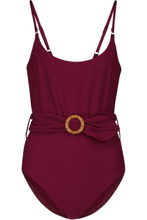 ZIMMERMANN Mae ribbed belted swimsuit